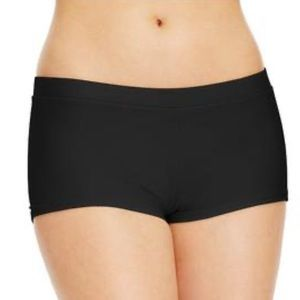 Hula Honey Boyshorts Bikini Swim Bottoms in Black